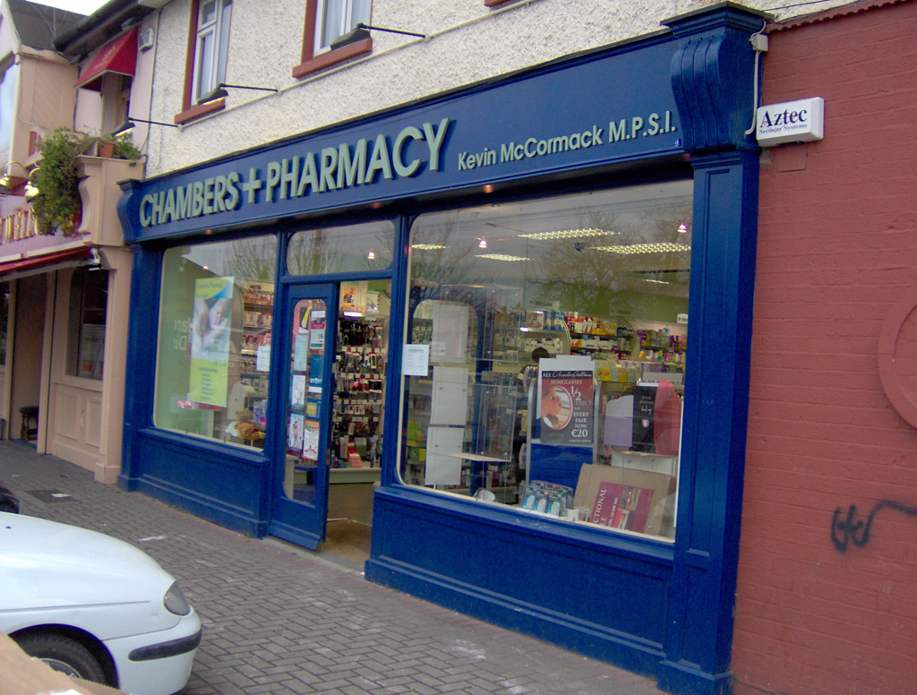 Image of a Pharmacy Shop Front in Dublin - Chambers Pharmacy Ballymun Road