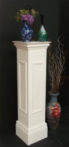 Wooden Pedestal with panel moulding