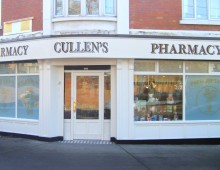 Shop Front Before and After, Cullens Pharmacy, Navan Road, Dublin 7