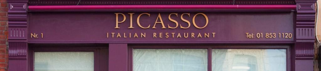 Image Of Irish Shop Front Signage - Picasso Italian Restaurant Clontarf