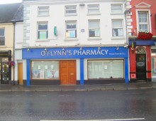 Shopfront Signage: O'Flynns Pharmacy, Ardee, Co. Louth || Laurel Bank Joinery