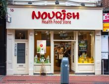 Shop Front : NOURISH HEALTH FOOD STORE – WICKLOW STREET, DUBLIN 2  – Laurel Bank Joinery
