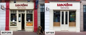 """Shop Front"" Before and After Liffey Street Lower Dublin"
