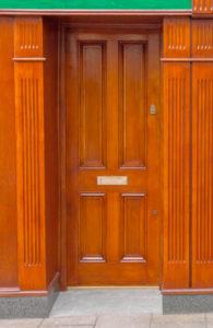 Shop Front Wood Gerogian Door Detail