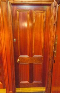 Mahogany Georgian Panel Toilet Stall Door, Frames and Architrave