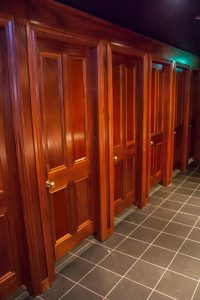 Mahogany Toilet Stall Doors, Frames and Architrave