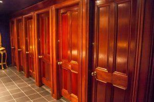 Mahogany Georgian Panel Toilet Stall Doors, Frames and Architrave