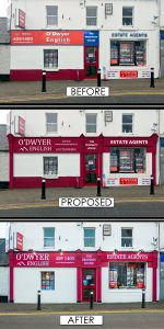 Shop Front Before and After Pictures
