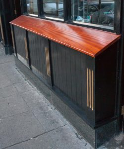 Hardwood shop front window sill