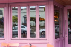 Shop Front Bi-Folding Windows Closeup- Laurel Bank Joinery - Cinnamon Monkstown -Dublin