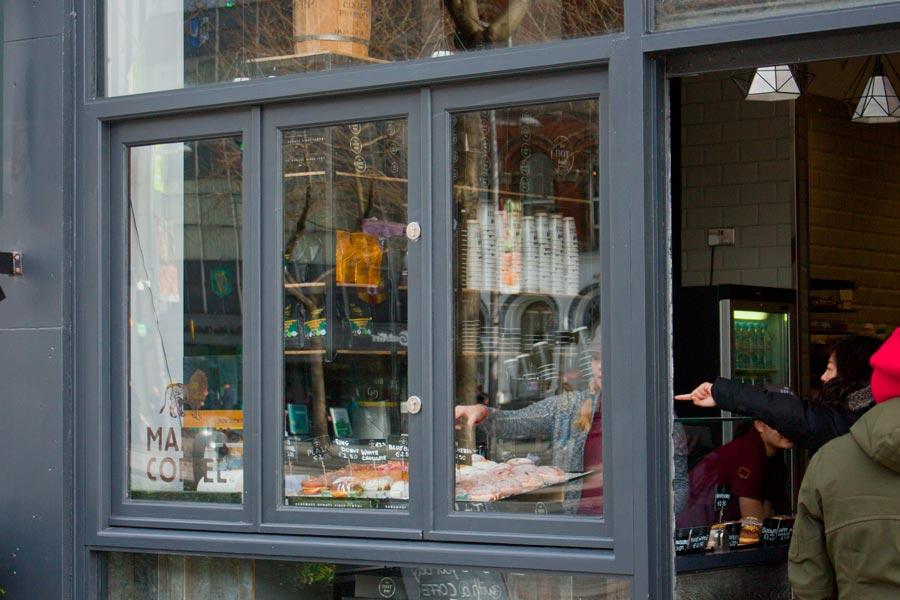 Bi-Folding Window Shopfront - Side View - Laurel Bank Joinery