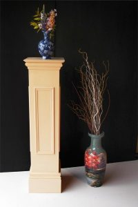 Pedestal Stand Wooden Painted Cream - Laurel Bank Joinery