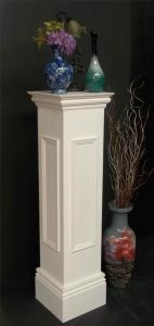 Pedestal Stand Wooden Painted White - Laurel Bank Joinery