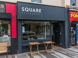 Shop Front Signage Window and Door - Square Restaurant Dundalk - Laurel Bank Joinery