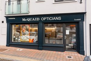 Shop Front Signage and Pillars - Opticians Cavan
