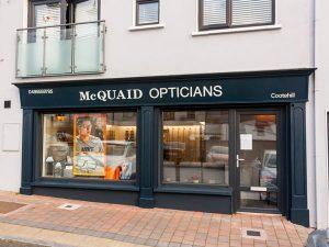 Shop Front Signage and Pillars - McQuaid Opticians Cavan Thumbnail