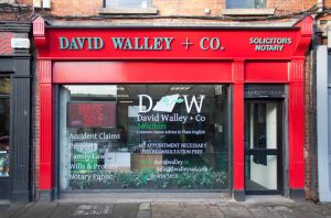 Image of a Irish Shop Front Signage and Pillars - David Walley Solicitors Dublin