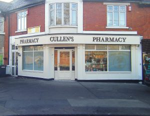 Thumbnail Image of a Pharmacy Shop Front - Cullens Pharmacy Cabra Road Dublin