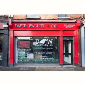 Image of a Shop Front in Ireland - David Walley Solicitors Amiens Street Dublin