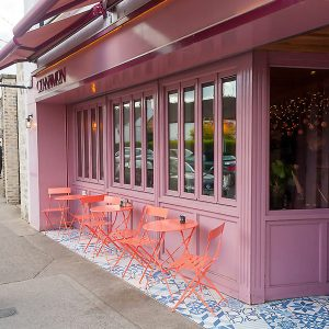 Image of a cafe shop front in Ireland with bi-folding windows - Cinnamon Monkstown Dublin