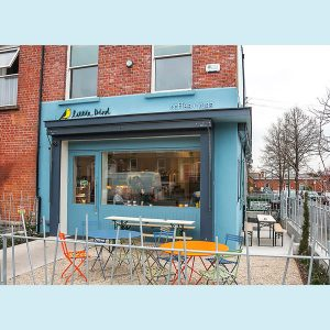 Image of a Cafe Shop Front In Dublin - Little Bird Cafe and Yoga South Cricular Road