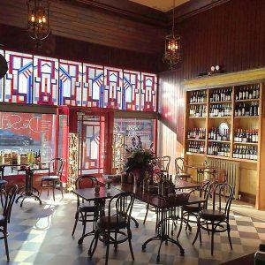 Interior image of a Cafe Shop Front in Ireland - DeSelbys Cafe Camden Street Dublin