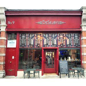 Image of a Cafe Shop Front in Ireland - DeSelbys Cafe Camden Street Dublin