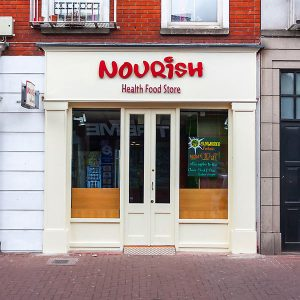 Image of a Shop Front in Dublin - Nourish Health Food Store Liffey Street