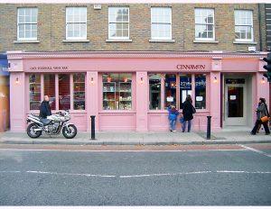Image of an Irish Shop Front with Bi-Fold Shop Front Windows - Cinnamon Ranelagh
