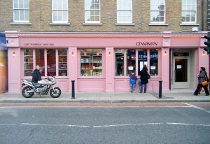 Image of an Cafe Shop Front in Ireland - Cinnamon Cafe Ranelagh Dublin