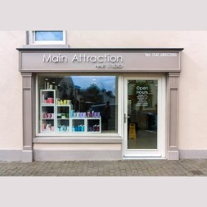 Image of an Shop Front in Louth - Main Attraction Hair Studio Ardee