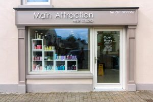 Thumbnail Image of a Shop Front in Louth - Hair Salon Signage and Pillars by Laurel Bank Joinery Shop Fronts