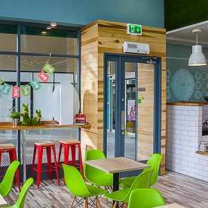 Image of the interior of a Cafe Shop Front in Louth - Treat and Green Dundalk