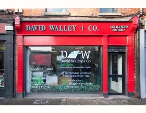 Image of a Irish Shop Front Signage - David Walley Solicitors Dublin