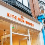 Image of a traditional wooden shop front- The kitchen whisk store in Wicklow Street, Dublin 2
