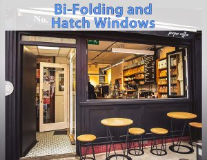 Image of a Shop Front Window with a Bi-Folding Window and Hatch Window