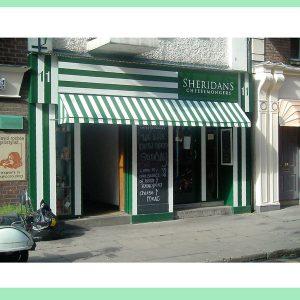 Image of an Irish Shop Front - Sheridans Cheesmongers Anne Street Dublin