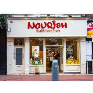 Image of a shopfront in Dublin - Nourish Health Food Store Wicklow Street