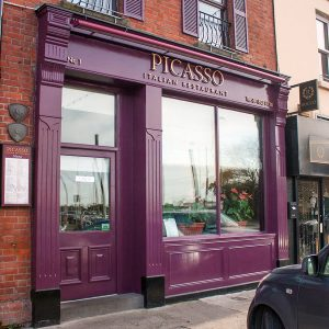 Image of a Shop Front for an Italian Restaurant - Picasso in Contarf Dublin