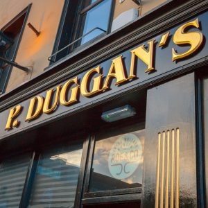 Image of a Traditional Shop Front Pub Signage and Lettering - P Duggans Dublin