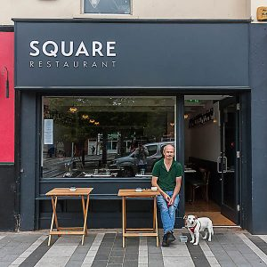 Image of a Modern Irish Shop Front in Louth - Square Restaurant Dundalk