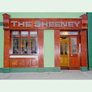 Image of a Wooden Shop Front in Meath - The Sheeney Pub Kells