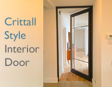 Crittall Style Door – Glass and Wood