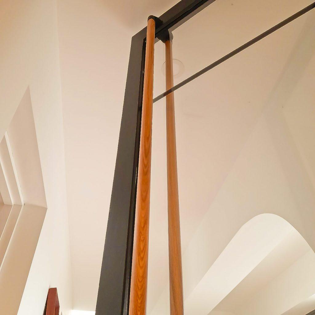 Full Length Ash Door Handle on a Crittal Style Door